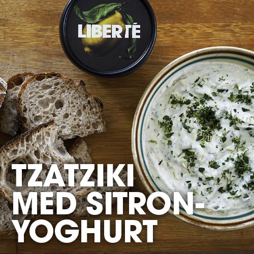 Tzatziki med sitronyoghurt